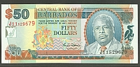Barbados, P-64, Central Bank [2000] $50, GemCU